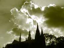 Lanscape. Castel in prague with clouds Stock Photo