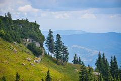 Lanscape in Ceahlau mountains, Romania Stock Image