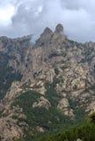 Lanscape d'aiguilles de Bavella, Corse du sud, France Image libre de droits