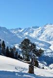 Lanscape d'Alpes de l'hiver Photo libre de droits