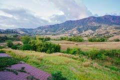 Lanscape de colline de dessus de Wonderfull en Thaïlande Photos libres de droits