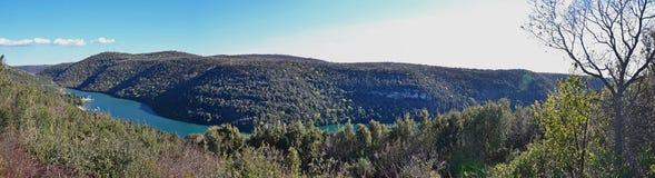 Lanscape de fjord Photographie stock