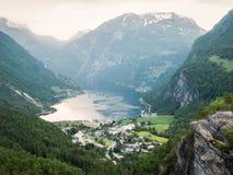 Lanscape de fjord de Geiranger Images libres de droits
