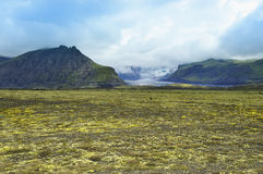 Lanscape de Islândia sul, Vatnajokull Fotos de Stock Royalty Free