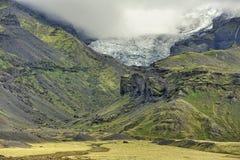 Lanscape de Islândia sul, Vatnajokull Foto de Stock Royalty Free