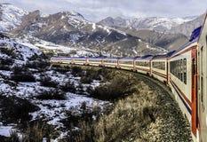 Lanscape de los kars de Ankara de los expres del dogu del tren histórico imagen de archivo libre de regalías