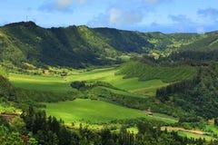 Lanscape de Sete Citades dans le sao Miguel Island image libre de droits