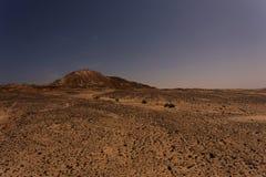 Lanscape de Western Sahara en la noche Foto de archivo libre de regalías