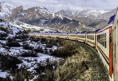 Lanscape dei kars di Ankara dei expres di dogu del treno storico Immagine Stock Libera da Diritti