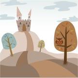 Lanscape del castillo de la historieta