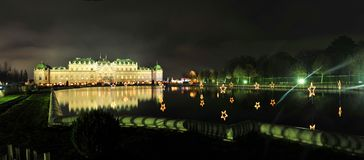 Lanscape del palacio del belvedere en Viena fotografía de archivo