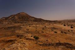 Lanscape del Sahara occidentale alla notte Fotografia Stock