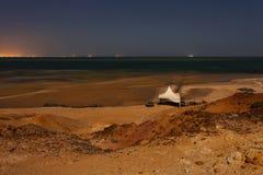 Lanscape del Sahara occidentale alla notte Immagini Stock Libere da Diritti