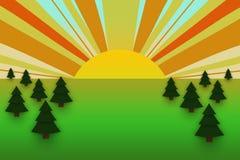 Lanscape del verano Imagen de archivo libre de regalías