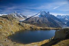 Lanscape dell'alta montagna di estate Immagini Stock Libere da Diritti