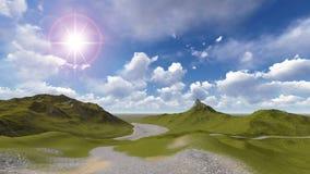 Lanscape della montagna Fotografie Stock