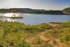 Lanscape della riva del fiume Immagine Stock Libera da Diritti