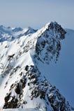 Lanscape delle alpi di inverno Immagine Stock