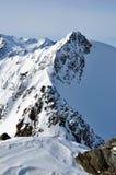 Lanscape delle alpi di inverno Fotografia Stock Libera da Diritti