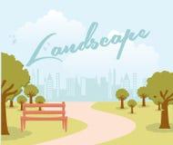 Lanscape design. Landscape design over sky background  illustration Stock Images