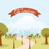 Lanscape design. Landscape design over sky background  illustration Stock Photography