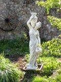Lanscape in a garden. Garden in summer. Nice exibit in a garden. Venus in a garden Stock Images