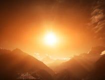Lanscape hermoso de la montaña Imagenes de archivo