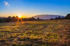 Lanscape hermoso de la salida del sol Fotos de archivo libres de regalías