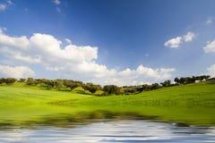 Lanscape im Frühjahr Jahreszeit Lizenzfreie Stockbilder