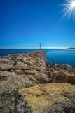 Lanscape from LAmetlla de Mar , Spain. Landscape from the port of LAmetlla de Mar , province of Tarragona , Spain Royalty Free Stock Photo