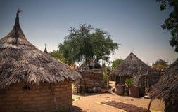 Lanscape with Mataya village of sara tribe people, Guera, Chad. Lanscape with Mataya village of sara tribe aka Ngambaye or Madjingaye or Mbaye people, Guera stock photo
