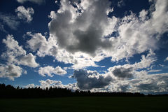 Lanscape meadow sky cloud Royalty Free Stock Photo