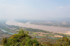 Lanscape of The the Mekong River Royalty Free Stock Image