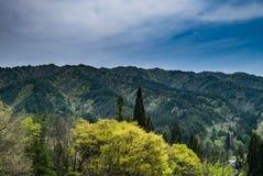 Lanscape of mountainous Hida Stock Photography
