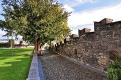 Lanscape nära den forntida väggen Arkivbild