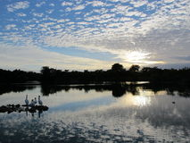 Lanscape nature clouds and skies lakes and rivers Stock Photography