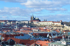 Lanscape over city of Prague Stock Images