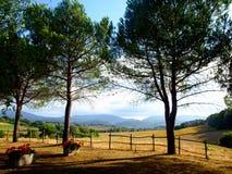 Lanscape in platteland Royalty-vrije Stock Afbeelding