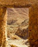Lanscape pustynia w Chebika terenie w Tunezja obrazy stock