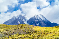 Lanscape of snow mountain in Torres Del Paine National Park Stock Photo