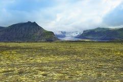 Lanscape of south Iceland,  Vatnajokull. Flatland near glacier Skaftafellsjokull, Iceland Royalty Free Stock Photos