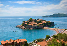 Lanscape of the St. Stefan island Royalty Free Stock Images