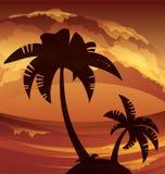 Lanscape tropical de la isla del océano Imagenes de archivo
