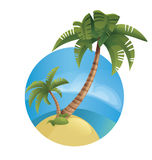 Lanscape tropical de la isla del océano Imagen de archivo