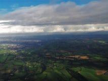 Lanscape verde en Inglaterra Fotos de archivo