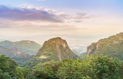 Lanscape view at Doi Pha Mee viewpoint famous place which is check-in point of moopa academy team near Thailand & Myanmar border M. Ae Sai, Chiang Rai, Thailand stock image