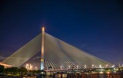 Lanscapes Rama VIII bro vid Supatphoto Arkivbilder