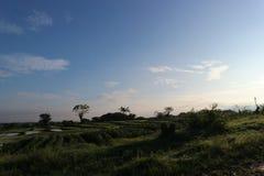 Lanscapes wschód słońca przy Ciperna Cirebon zdjęcie royalty free