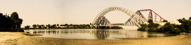 Lansdowne Bridge. The Lansdowne Bridge Rohri at Sukkur is a bridge over the Indus River between Sukkur city and Rohri town of Sindh, Pakistan. Any visitor to Royalty Free Stock Photo