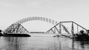 Lansdowne Bridge Sukkur Sindh Pakistan. The Lansdowne Bridge Rohri at Sukkur is a bridge over the Indus River between Sukkur city and Rohri town of Sindh Royalty Free Stock Images